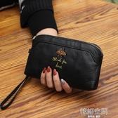 潮流女手機零錢包百搭手拿包真皮新款手抓包韓版大容量女士小手包  韓語空間