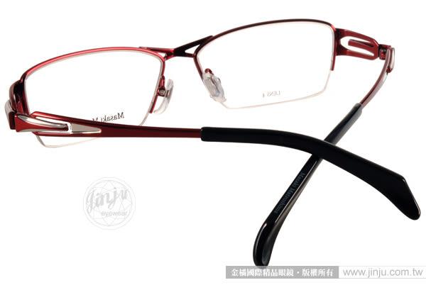 Masaki Matsushima 光學眼鏡 MF1185 C06 (紅)  β 鈦金屬系列 質感半框 #金橘眼鏡