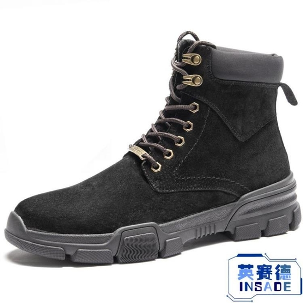馬丁靴男靴子韓版中筒雪地靴百搭英倫軍靴棉鞋【英賽德3C數碼館】