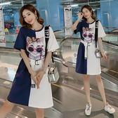 特賣款不退換中大尺碼M-4XL洋裝連身裙夏款大碼女裝韓版200斤