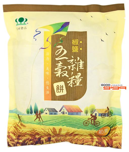 【吉嘉食品】昇田 椒鹽五穀雜糧餅(奶素) 每包336公克 [#1]{4719684109638}