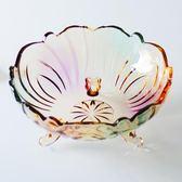 大號水晶玻璃果盤 歐式現代創意沙拉碗 客廳家用乾果糖果水果盤子 鹿角巷YTL