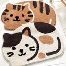 喵喵貓造型地墊 約45cmX65cm(誤差約正負1cm) 棉床本舖