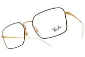 RayBan光學眼鏡RB6440 3051 (霧黑-霧金) 復古造型金屬款 平光鏡框 # 金橘眼鏡