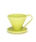 金時代書香咖啡 CAFEC Flower Dripper 花瓣濾杯 2-4人 黃色 CFD-02-YL