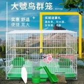 鳥籠 鴿子籠虎皮鸚鵡文鳥八哥繡眼百靈鳥籠子大號超大繁殖養殖家用T