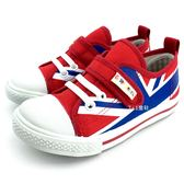 《7+1童鞋》中童 優雅英倫 經典百搭 休閒帆布鞋 MIT台灣製造 E280 紅色