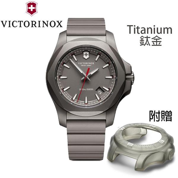 【萬年鐘錶】瑞士VICTORINOX 維氏  I.N.O.X.  Titanium 鈦金屬 潛水錶 灰色錶面 VISA-241757