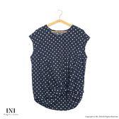 【INI】HOT SALE!涼感風格、圓點印花造型設計感上衣.黑底白點
