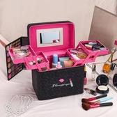 化妝箱 新款大容量化妝包韓國多功能化妝品收納盒簡約便攜手提化妝箱網紅