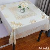 PVC桌布塑料免洗防水防油正方形臺布茶幾布八仙桌麻將蓋布餐桌布 QQ12061『bad boy時尚』