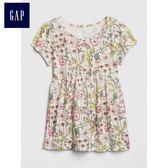 Gap女嬰幼童 童趣精選印花短袖上衣 430143-清新植物花紋