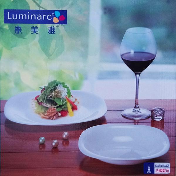 法國 Luminarc 樂美雅 強化餐盤組(26CM淺盤+21CM淺盤)