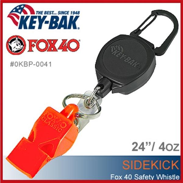 KEY BAK-Sidekick 伸縮鑰匙圈+FOX40 SAFETY WHISTLE安全哨#0KBP-0041【AH31062】99愛買小舖