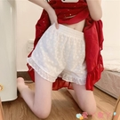 安全褲 白色安全褲女夏季可外穿jk打底褲防走光春秋薄款寬鬆蓬蓬蕾絲短褲 愛丫 免運