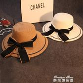 草帽女夏天親子遮陽帽防曬帽太陽帽出游度假海邊大沿帽可折疊涼帽   麥琪精品屋