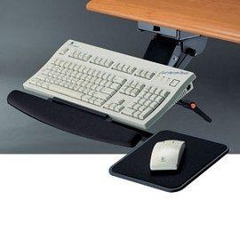 多功能鋼製鍵盤架系列-KF-33AM 滑道式+滑鼠板