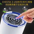 【HESTIA 】USB車用廁所櫥櫃800萬負離子空氣淨化機(米白色)