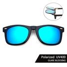 Polaroid偏光夾片 (冰水藍) 可掀式太陽眼鏡 防眩光 反光 近視最佳首選 抗UV400