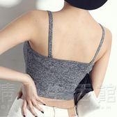 夏棉質短款露臍高腰百搭大碼修身平行吊帶衫女內搭小背心抹胸裹胸 晴川生活館