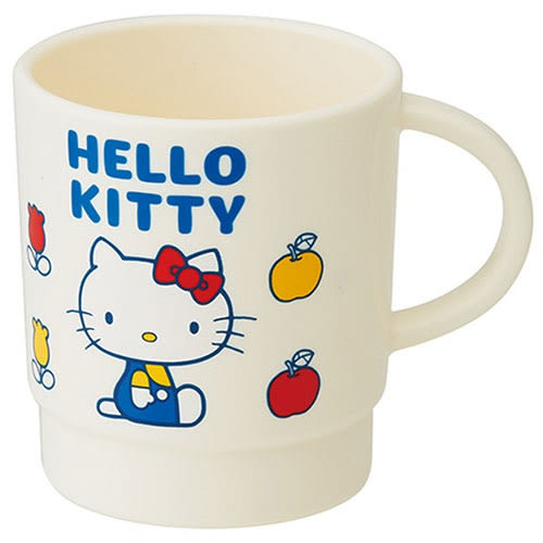 《SKATER》HELLO KITTY塑膠水杯-340ml(70年代)★funbox生活用品★_S31677