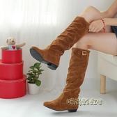 春秋季新款單靴大碼高筒靴冬季韓版長筒學生鞋雪地冬鞋女靴子「時尚彩虹屋」