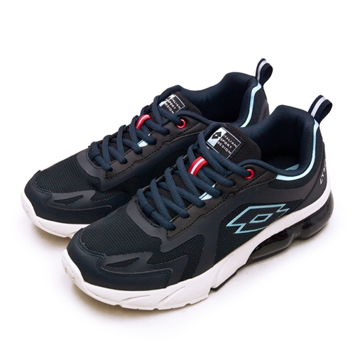 LIKA夢 LOTTO 專業避震氣墊慢跑鞋LT20系列 藍黑米 2396 男