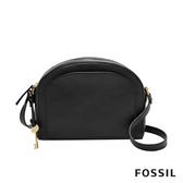 FOSSIL CHELSEA 黑色真皮斜背包 ZB7633001