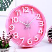 掛鐘 靜音鐘錶立體創意掛鐘客廳掛錶石英鐘現代家庭時尚簡約時鐘 城市科技DF
