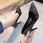 高跟鞋 鞋子女新款法式少女配禮服細跟超高跟鞋小清新時尚水鉆網紅單鞋潮 茱莉亞
