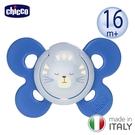 【愛吾兒】義大利 Chicco 舒適哺乳-機能型矽膠安撫奶嘴1入(大/喵星藍)16M+(CNB7491541.01)