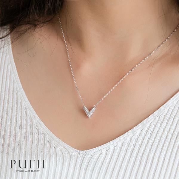 限量現貨◆PUFII-項鏈 V字水鑽氣質鎖骨鏈-0414 現+預 春【CP18336】