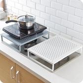 優思居鐵藝電磁爐架廚房煤氣灶蓋板底座燃氣灶台微波爐收納置物架 時尚芭莎