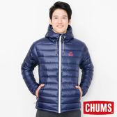 CHUMS 日本 男 600 fill 連帽羽絨外套 深藍 CH041072N001