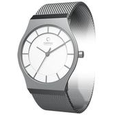 OBAKU 極簡時代優雅時尚腕錶(銀白/小)