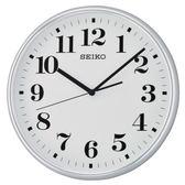 【時間光廊】SEIKO 日本精工 數字 滑動式秒針 掛鐘 時鐘(QXA697S)-白/35cm