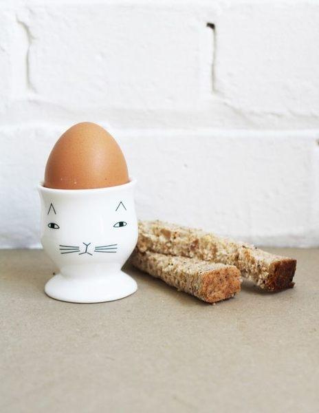 Donna Wilson 蘇格蘭貓咪 英國 手工製骨瓷蛋杯 Mog