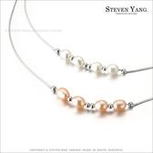 925純銀飾「珍珠美人」 純銀項鍊 時尚T字鍊