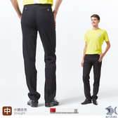 【NST Jeans】【涼夏】Noir黑 涼感纖維x彈性纖維 休閒直筒長褲(中腰)390(5666) 夏季薄款 台灣製