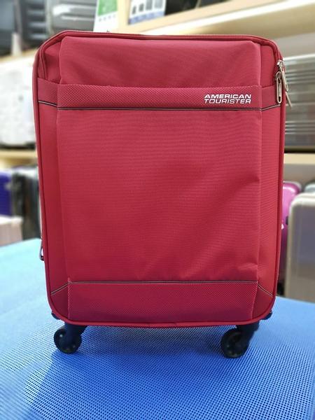 新秀麗 AT美國旅行者 (出清價6折) 86W HI-LITE系列 可加大超輕量布箱 登機箱/旅行箱-20吋(紅色)