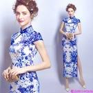 (45 Design)  客製化顏色尺寸領新娘長款婚紗晚宴年會演出主持人禮服11