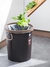 垃圾桶 廚房垃圾桶大號家用大容量廁所衛生間客廳創意黑色辦公室無蓋商用【快速出貨八折搶購】