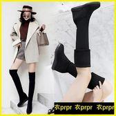 過膝靴-膝上靴平底彈力靴內增高厚底長筒靴顯瘦高筒靴 衣普菈