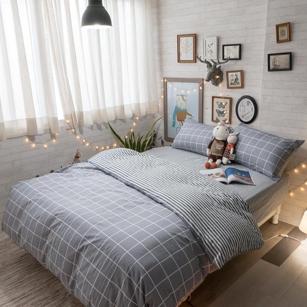 春日 D2雙人床包雙人被套4件組 多種花色 台灣製造 100%純棉 棉床本舖
