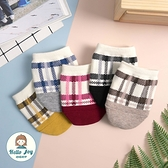【正韓直送】韓國襪子 格紋止滑穆勒襪 短襪 穆勒鞋襪子 棉襪 女襪 禮物 哈囉喬伊 E44