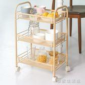浴室置物架廚房收納架美容美甲小推車臥室落地多層夾縫可移動餐車-享家生活館 IGO