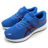 《7+1童鞋》中童 ASICS 亞瑟士 PATRIOT 11 PS 透氣網布 運動鞋 慢跑鞋 5218 寶藍色