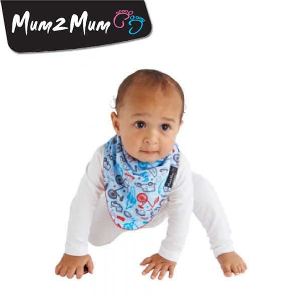 紐西蘭 MUM 2 MUM 雙面時尚造型口水巾圍兜 男孩紅