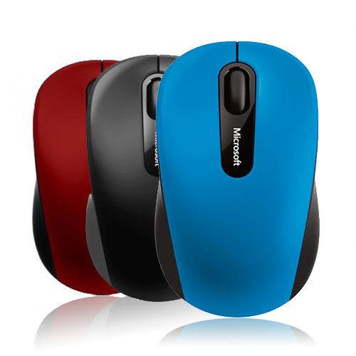 [哈GAME族]免運費 可刷卡 Microsoft 3600 藍芽無線滑鼠 藍/紅/黑 Bluetooth Mobile 行動滑鼠 Mac可用