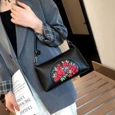 媽媽包2019新款女士手提包單肩斜挎包中老年人軟皮小包包中年女包